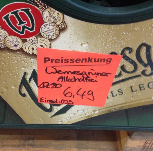 Wernesgrüner Alkoholfrei der Kasten 20x0,5l für 6,49 bei Netto (MD) Berlin-Marienfelde