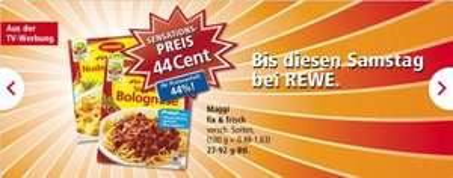 [Bundesweit]Rewe - Maggi Fix & Frisch versch. Sorten 44 Cent (0,44€)