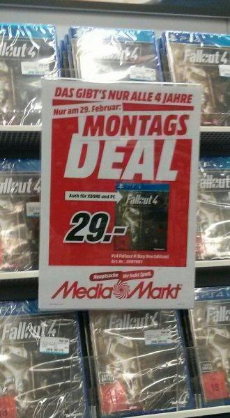 Fallout 4 Mediamarkt Worms für 29 Euro nur heute.