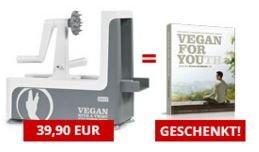 """[Veganer-Deal] Spiralschneider + Buch """"Vegan For Youth"""" von Attila Hildmann"""