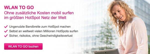 [TELEKOM Kunden] kostenlose HotSpot-Flat durch Teilnahme am WLAN TO GO Programm