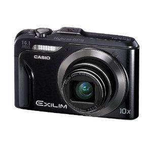 Casio Exilim EX-H20G GPS-Digitalkamera (14 Megapixel, 10-fach opt, Zoom, 7,6 cm (3 Zoll) Display, bildstabilisiert) schwarz EUR 119,97 @amazon