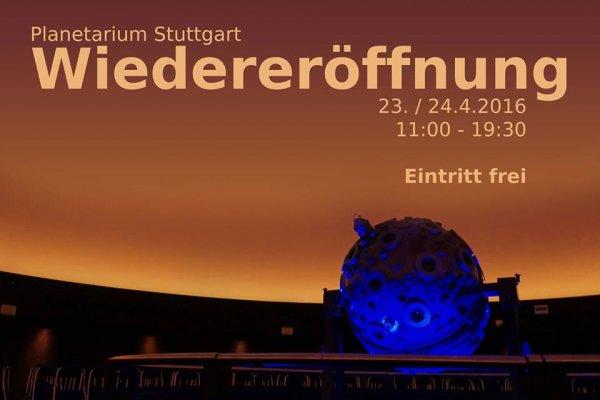 Stuttgart : Planetarium 23 & 24.4 - freier Eintritt