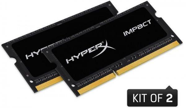 [Conrad] 8GB Kingston HyperX Impact SO-DIMM Kit (DDR3L-1866, CL10) für 26,64€
