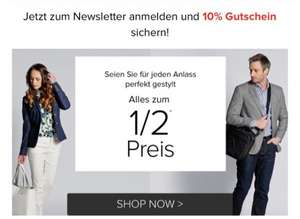 dress for less 50% auf alles + 10%