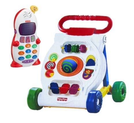 [Babymarkt.de] Fisher Price Activity Lauflernwagen und gratis Lernspaß Telefon für 27,59€ inkl VK, statt ca. 40€