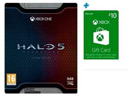 Halo 5: Guardians - Limited Edition (Xbox One) + £10 Xbox Live Guthaben für 42,33€ bei Game.co.uk
