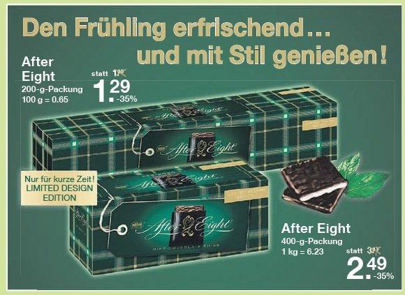 [V-Markt] AFTER EIGHT Die feine englische Art 200gr 1,29€ /  400gr 2,49€