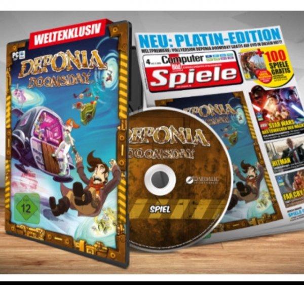 """Deponia Doomsday """"Computer Bild Spiele Platin"""" 9,90€ statt 26,99"""
