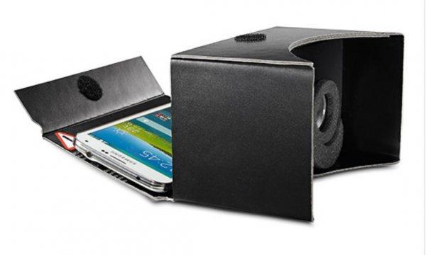 VR Smartphone Brille mit Schaumstoffbart [Cardboard] @Tchibo
