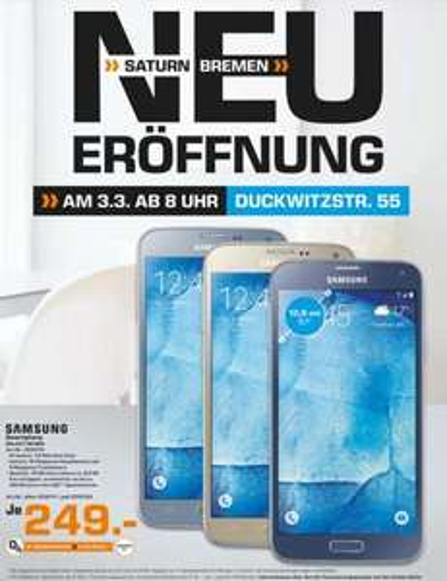 [Lokal Saturn Bremen] Samsung Galaxy S5 Neo für 249€