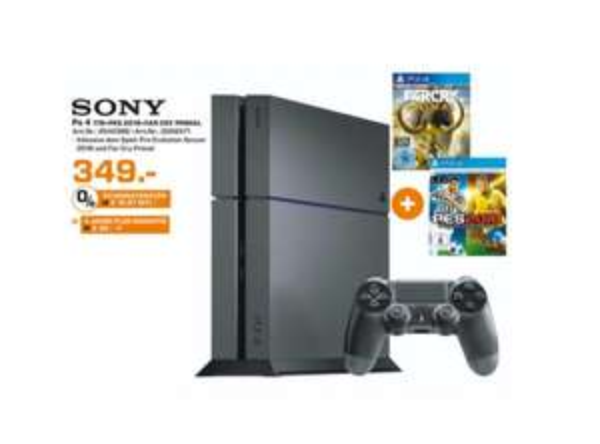[Lokal Saturn Duisburg] PlayStation 4, 1TB, + Pro Evolution Soccer 2016 + Far Cry: Primal für 349€