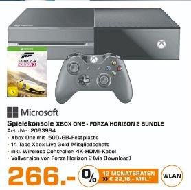 [Lokal Saturn Landshut] Microsoft Xbox One Spielekonsole 500 GB Schwarz inklusive Forza Horizon 2 *NEUWARE* für 266,-€