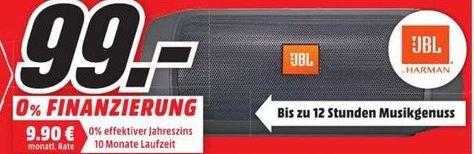 [Lokal Mediamarkt Trier] JBL Charge 2+ Schwarz Bluetooth Lautsprecher mit Ladefunktion für 99,-€
