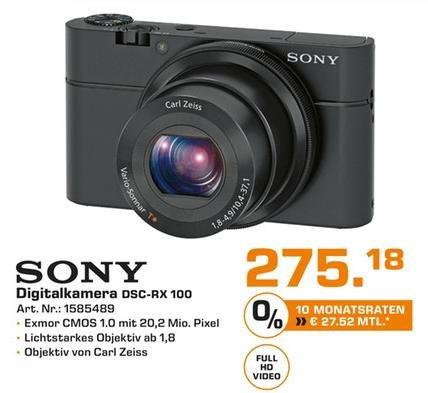 [Lokal BaWü] Sony Cyber-shot DSC-RX100 275€