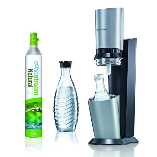 SodaStream Crystal Rückläufer mit Glasflasche, 60l Gaszylinder und 24 Monaten Gewährleistung
