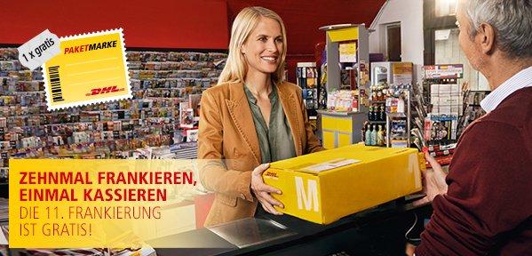 eBay Versandmarken-Aktion mit DHL, Gratis-Versand, jedes elfte Mal.