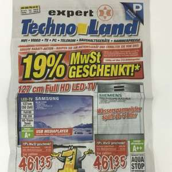 19% Mehrwertsteuer Aktion Technoland Deizisau