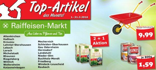 Raiffeisen-Markt: Produkte des Monats März