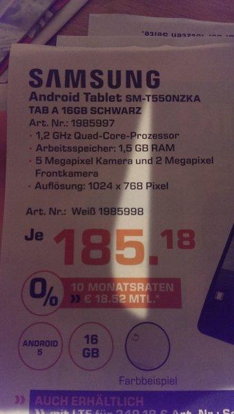 Saturn - Samsung Tab A - 16Gb - 185,18€