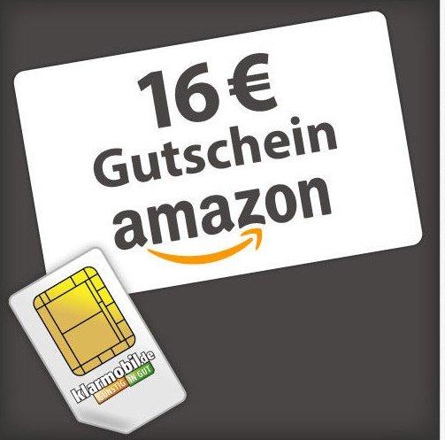 [Ebay] Klarmobil 1,95 + 16,- Euro Amazon Gutschein bzw. 3,90 + 32 Euro Amazon