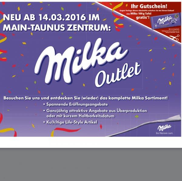 [Frankfurt Shopping-Center Main-Taunus-Zentrum] Gratis Milka-Tafel 100g MTZ