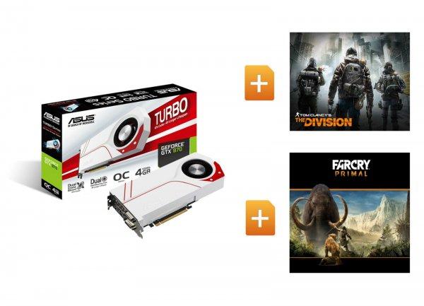 ebay WOW ASUS GeForce Turbo GTX 970 OC + The Division + Far Cry Primal für 299€