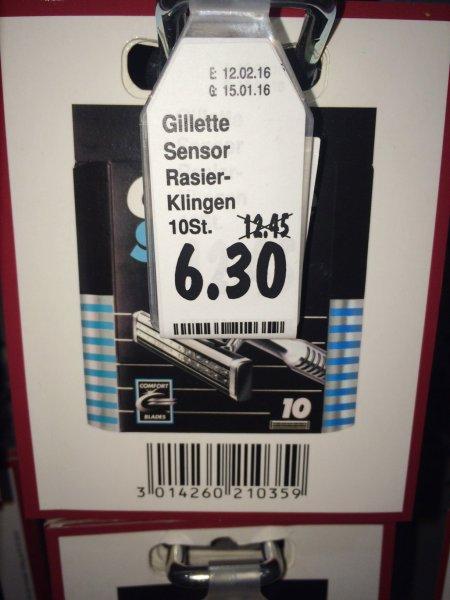 [evtl. nur lokal Kaufland Potsdam] Gillette Sensor Rasierklingen (10er) für 6,30 EUR statt 12,45 EUR