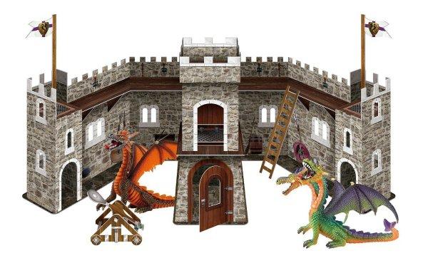 [AMAZON] Bullyland 75037 – Spielset – Drachenburg mit grünem und orangem Drachen für 10,69  €