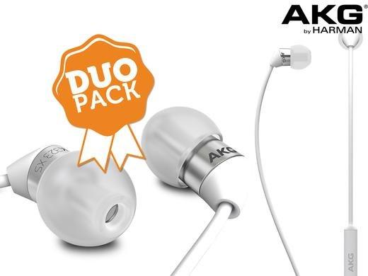 [iBOOD] Duo-Pack AKG In-Ear-Kopfhörer mit Fernbedienung & Mikrofon für 35,90 € inkl. Transport