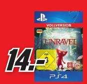 [Media Markt München Karlsfeld Erding] Unravel PS4 PSN Code 14€
