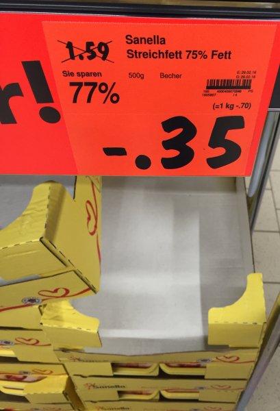 [Kaufland Neuss] Sanella Streichfett 500gr nur 0,35€