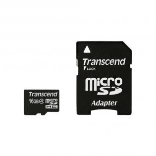 Transcend MicroSDHC Karte 16GB Class 10 ab 4,27€ bei Redcoon.de