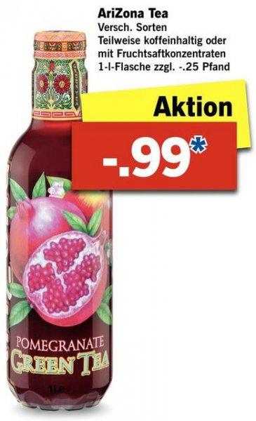 [Lidl] AriZona Iced Tea 1 Liter für 0,99€