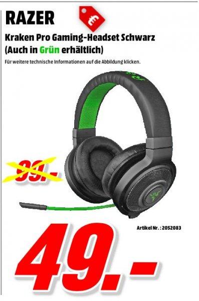[Mediamarkt Porta Westfalica Bundesweit] Razer Kraken Pro Gaming Headset - grün oder schwarz für je 49,-€ Versandkostenfrei