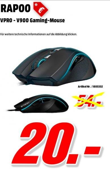[Mediamarkt Porta Westfalica Bundesweit] VPRO V900 Laser Gaming Maus (8200 DPI, LED-Multi-Color Beleuchtungssystem) schwarz für 20,-€ Versandkostenfrei
