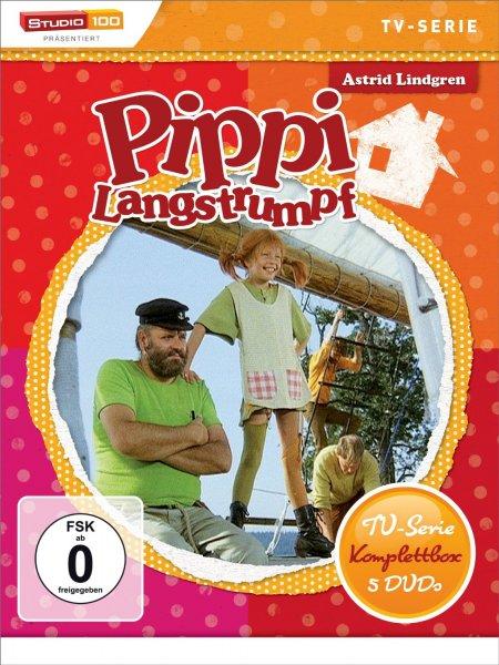 [Buch.de] Pippi Langstrumpf - TV-Serie Komplettbox (584 Minuten auf 5 DVDs) + Kinderbuch für 17,14€ versandkostenfrei