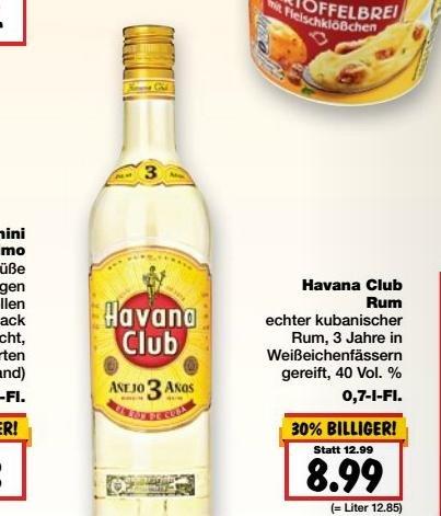 Kaufland Erkner Bundesweit? Havana Club 3 Años