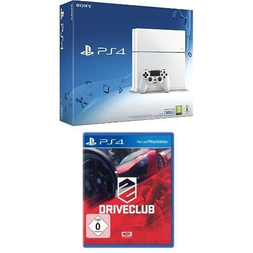 PlayStation 4 - Konsole (500GB, weiß) [CUH-1216A] + DriveClub (Standard-Edition)
