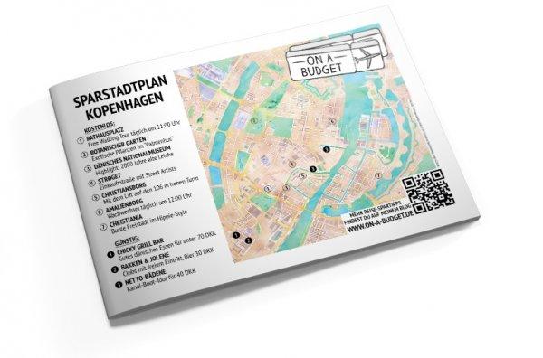 Kostenloser Stadtplan mit Spartipps für Kopenhagen als PDF-Download