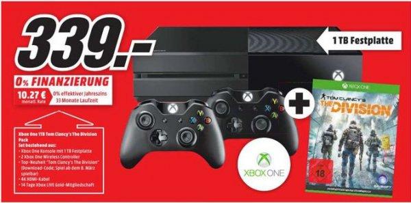 [Lokal Mediamarkt Paderborn] Xbox One 1 TB incl. 2 Controller + Tom Clancy's The Division für 339,-€