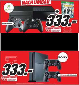 [Lokal Mediamarkt Neustadt] PlayStation 4-Ultimate Player 1TB Edition inklusive 2 Controller [CUH-1216B] oder Xbox One 1 TB incl. 2 Controller + Tom Clancy's The Division für je 333,-€
