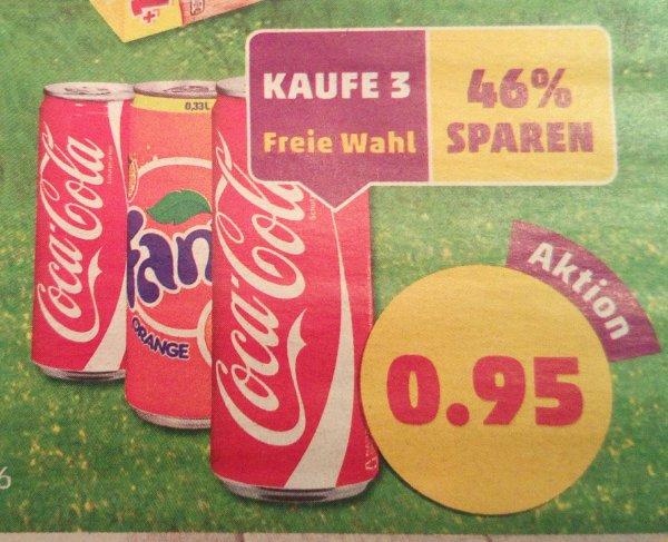 [Penny ab 07.03.] 3 Dosen Coca-Cola oder Fanta 0,33L für 0,95€ (zzgl. Pfand)