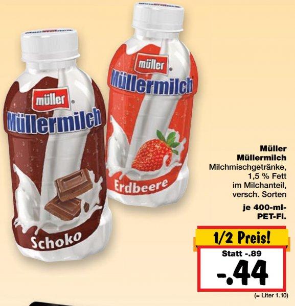 Lokal Kaufland Frankfurt/M. KW.10 |?Müller milch ? ver. sorten 50% reduziert kostet 0.44€
