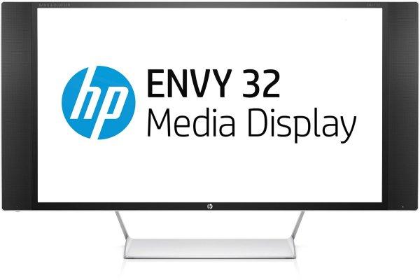 [Saturn] HP Envy Media Display (32'' WQHD WVA+ matt, 3000:1, 300 cd/m², MHL + 2x HDMI + DP, 3x USB, USB-Hub + HDCP, Beats-Lautsprecher, EEK A) für 294€