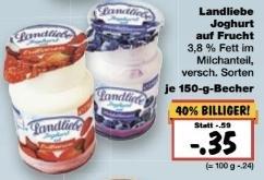 [Kaufland, KW10] Landliebe Joghurt mit ~70% Ersparnis (Angebot+Coupon ab 6 Stk) => 0,18 € / Becher