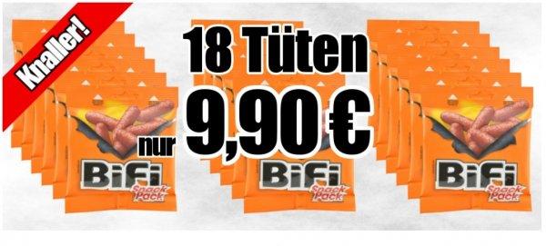 18 Beutel Bifi Snack Pack 9,90 + 3,90 Versand, Versandkostenfrei ab 35