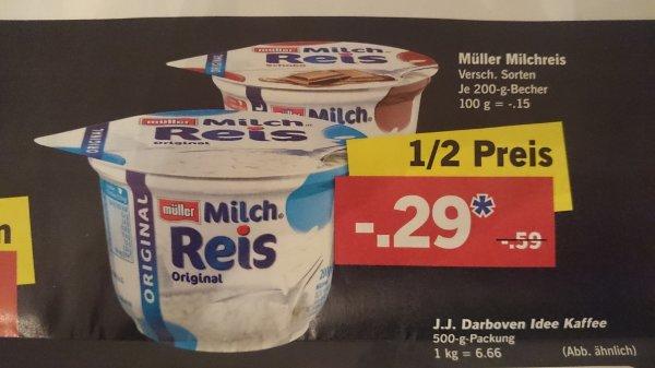 Müller Milchreis 1/2 Preis
