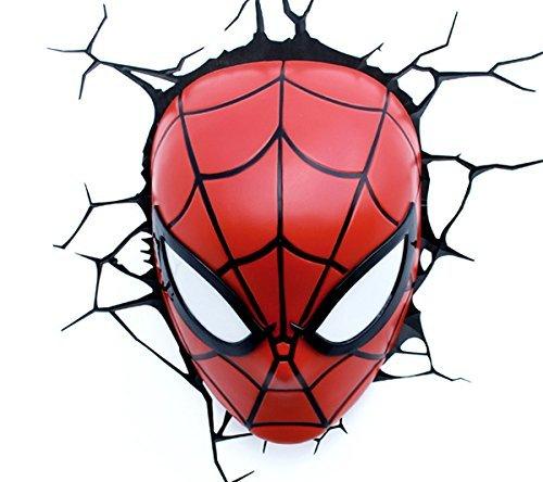 [Amazon.es] Philips Wandleuchte Spider-Man 3D LED Lampe mit Wandsticker P15000GI