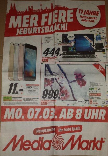 [Lokal MediaMarkt Köln Kalk-Arcaden] Sony KD-55X8505C (LED, UHD, 3D, SmartTV, 139cm/55 Zoll) für 999,- | Gültig ab Montag 07.03. ab 8:00 Uhr